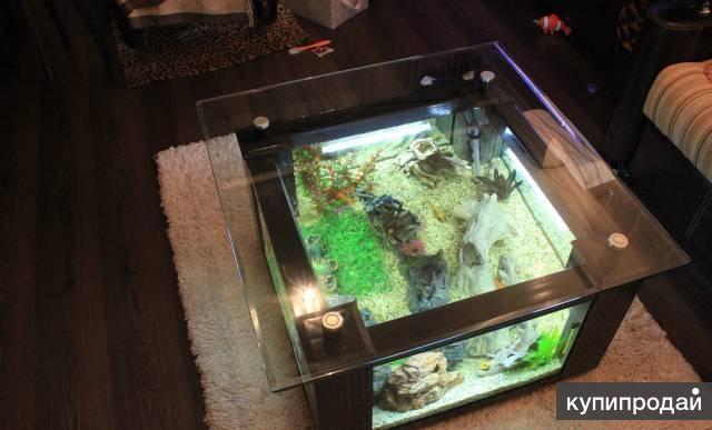 Продаю журнальный стол-аквариум с подстветкой Москва