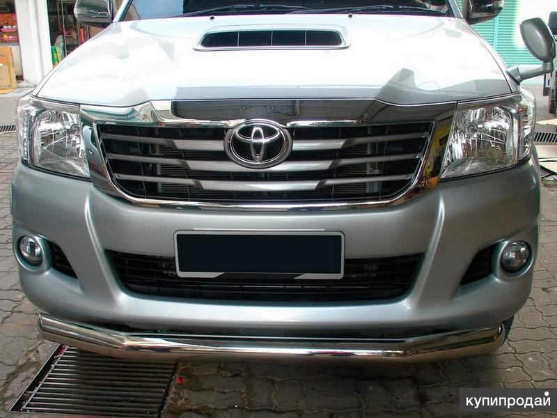 Защита перед. бампера(нерж.)Toyota Hilux12-15г