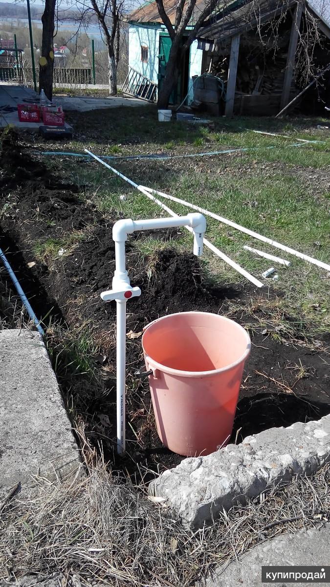 Как сделать разводку труб в саду