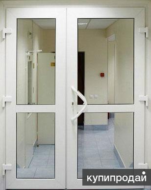 Двери алюминиевые, пластиковые. Окна