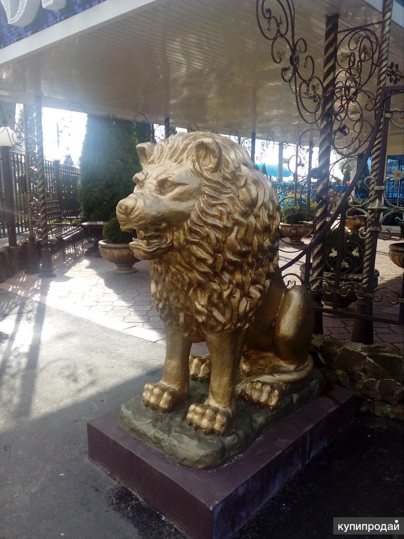 Лев из гипса под заказ