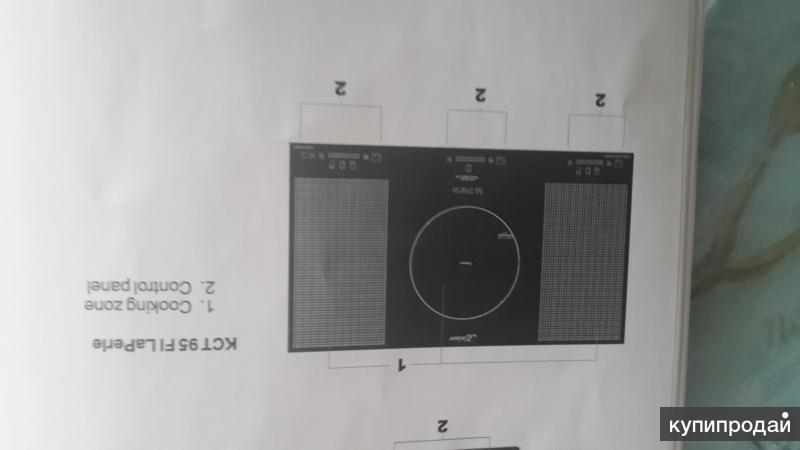 Широкая индукционная варочная панель