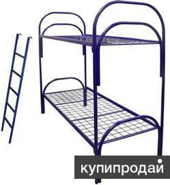 Кровати металлические одноярусные и двухъярусные оптом для рабочих, больницы