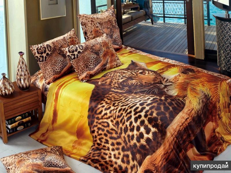 Шелковое постельное белье 3D 451. Плед в подарок