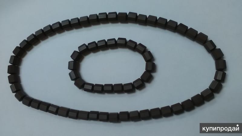 Бусы и браслет из турманиевой керамики