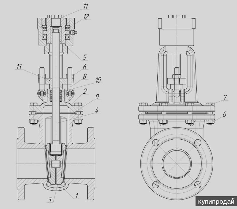 Диаметр условного прохода: ду 15-150 мм давление рабочей среды: ру 16 кгс/см2 температура среды макс