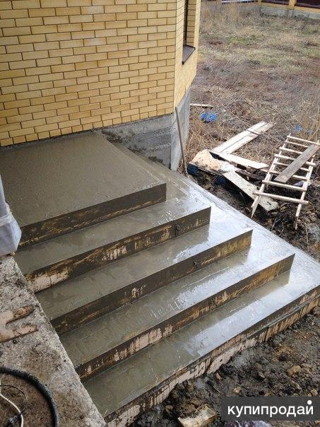 Бетонные лестницы к дому своими руками