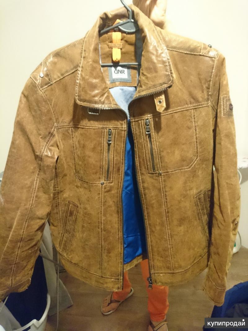 Коричневая куртка (кожаная)