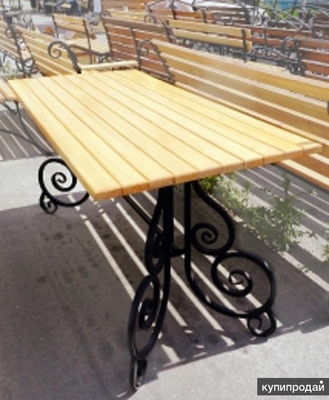 Стол садовый (дачный) кованый СтП