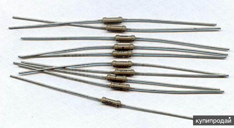 Постоянные резисторы 1 ГОм (один гигаом) 0,125 Вт для конденсаторных микрофонов.