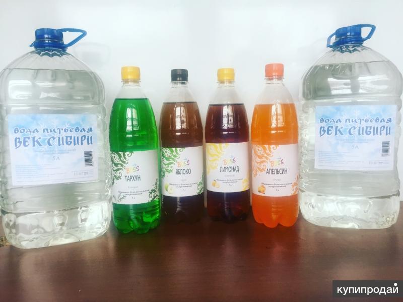 Вода питьевая, газ вода, морсы, напитки 15% сока.