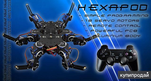 Hexapod robot kit - программируемы робот паук на серво