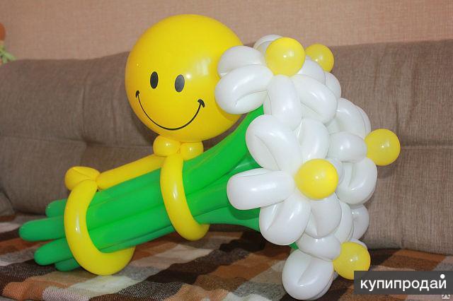 Ромашка из шаров своими руками пошаговое