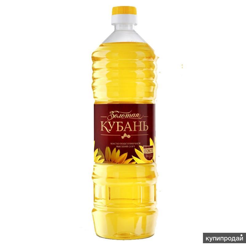Масло подсолнечное Золотая КУБАНЬ