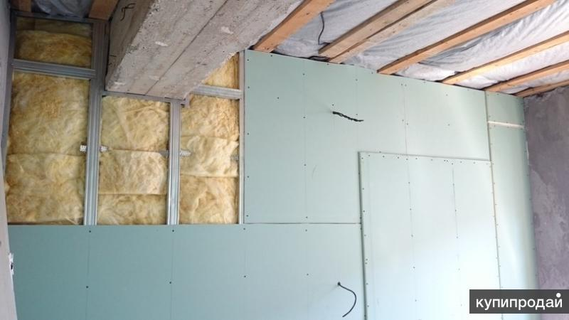 утепление потолка и стен.