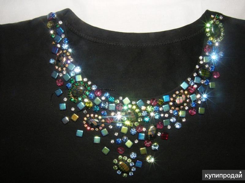 Как расшить платье бисером стразами кристаллами