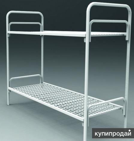 Кровати металлические двухъярусные для казарм, кровати трёхъярусные