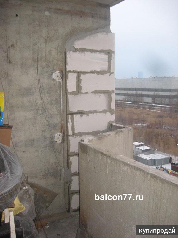 Балкон из пеноблоков своими руками фото.