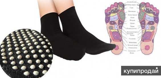 Турмалиновые носки прогревающие( пара) цвет:черный и белый