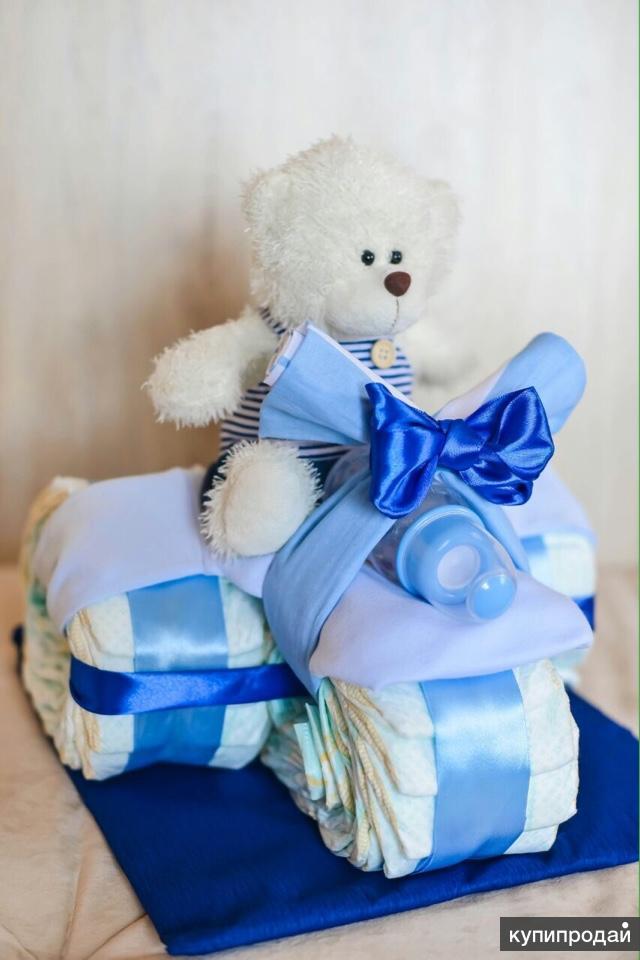 Игрушки подарки из памперсов и игрушек