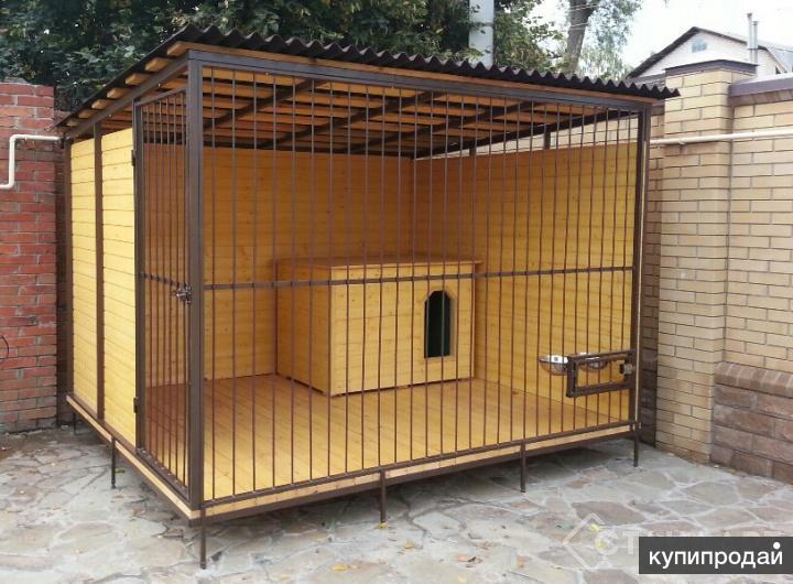 Вольер для собаки 2х4м Цейс с обшивкой вагонкой