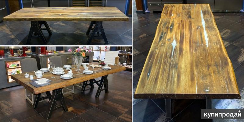 Мебель для дома от производителя, массив и слэбы дуба, карагача, акации и ореха