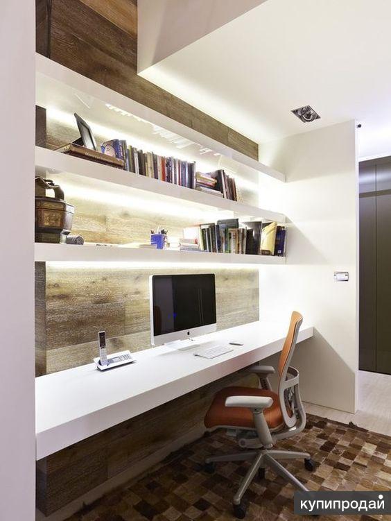 Мебельный профиль для полок, перегородок, с LED-подсветкой.