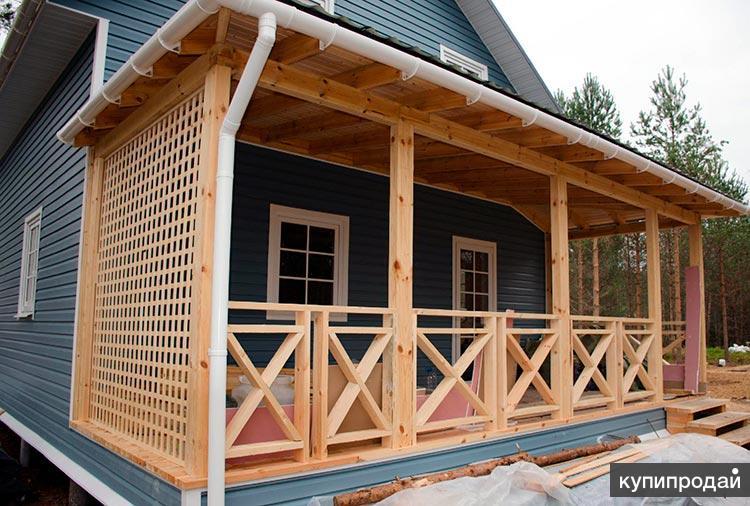 Пристройка к дому, общая крыша, услуги плотников в Пензе