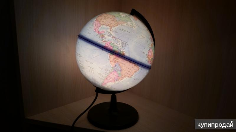 Глобус-ночник (с подсветкой)