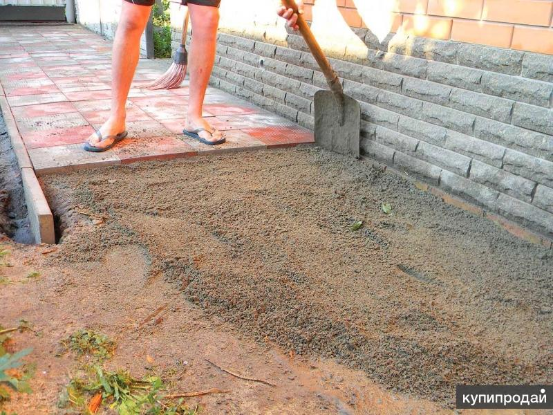 Укладка тротуарной плитки без бордюра своими руками