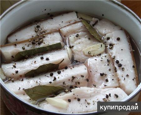 Вкусного соленого сала с чесноком в рассоле