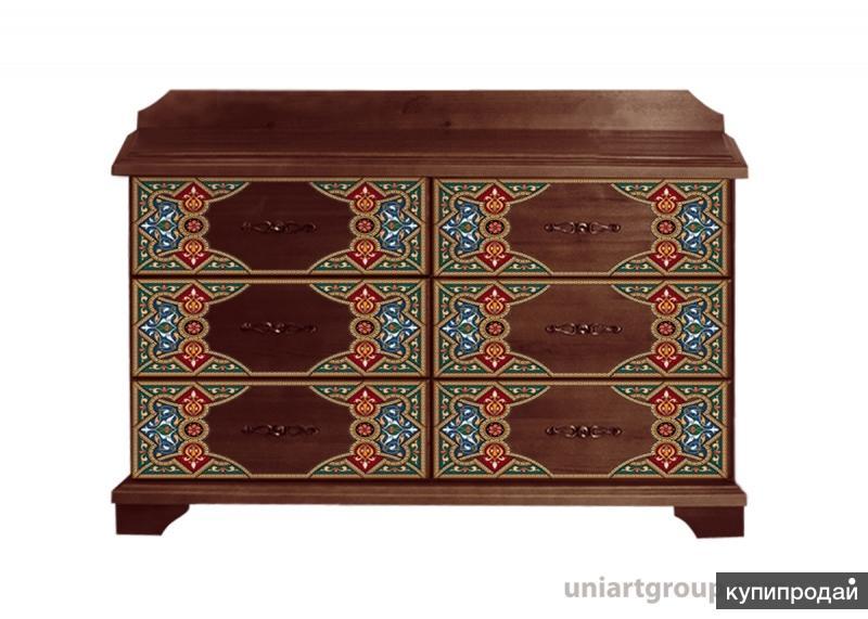 Мебель из массива с росписью и декором