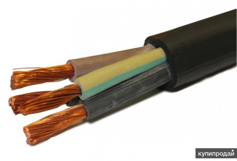 Гибкий кабель pur-orange-jz с разметкой метража, сечение токоведущих жил - 3 x 1 (одна жила - желто-зеленая)