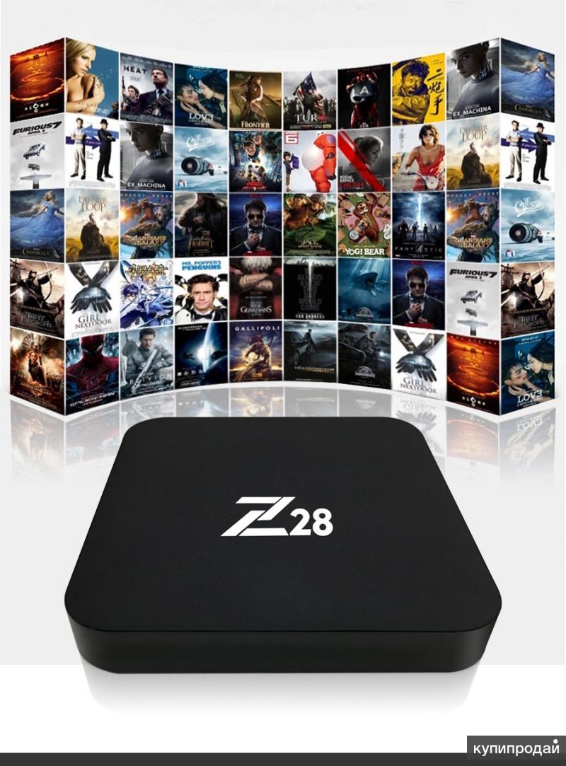 Z28 Смарт тв приставка 4К на Андроиде-7.1.2(Новая)