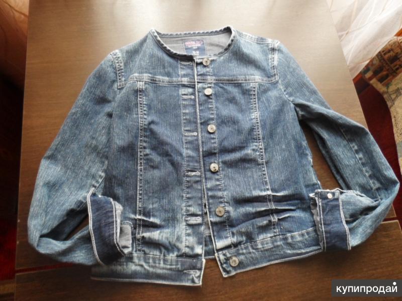 Куртка на рост 146-152 джинсовая+джинсы