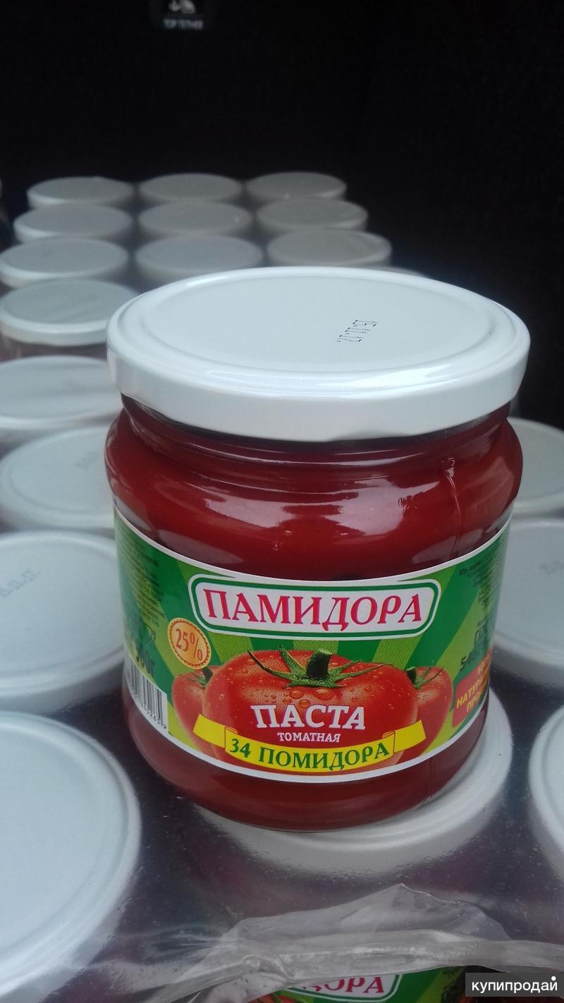 Томатная паста ТУ, ГОСТ 25% с.в. Евро-стекло, ПЭТ ведро