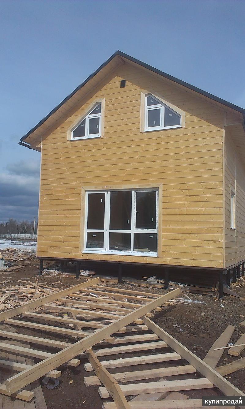 Услуги по строительству каркасных и брусовых домов