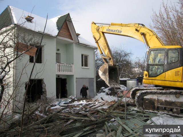 Демонтаж бетона и железобетона, коммуникаций, обработка земли.