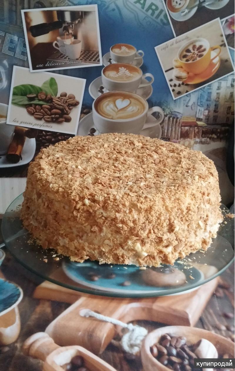 торт Наполеон из натуральных продуктов, на заказ