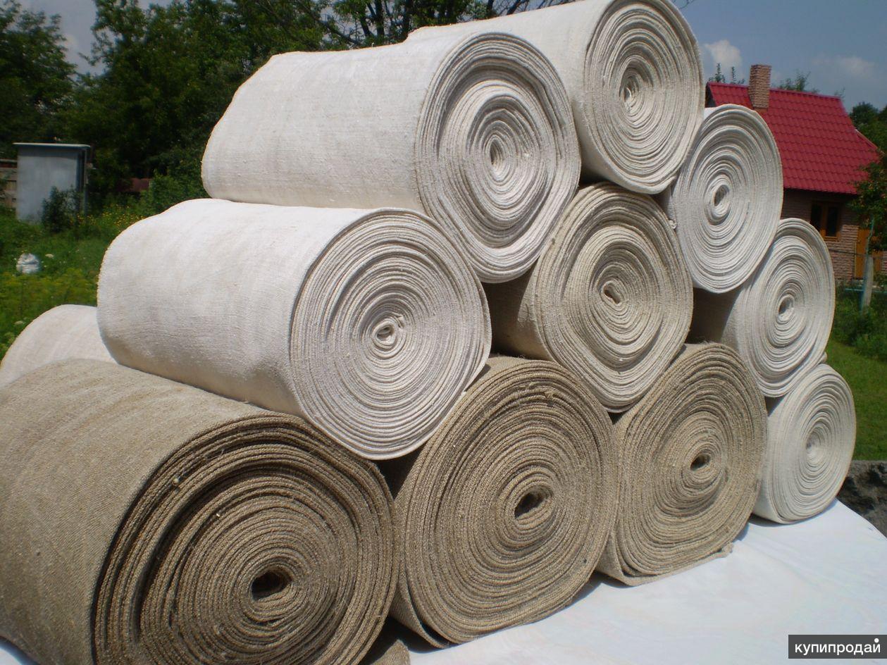 Домотканое конопляное полотно, (100%) натуральная ткань.