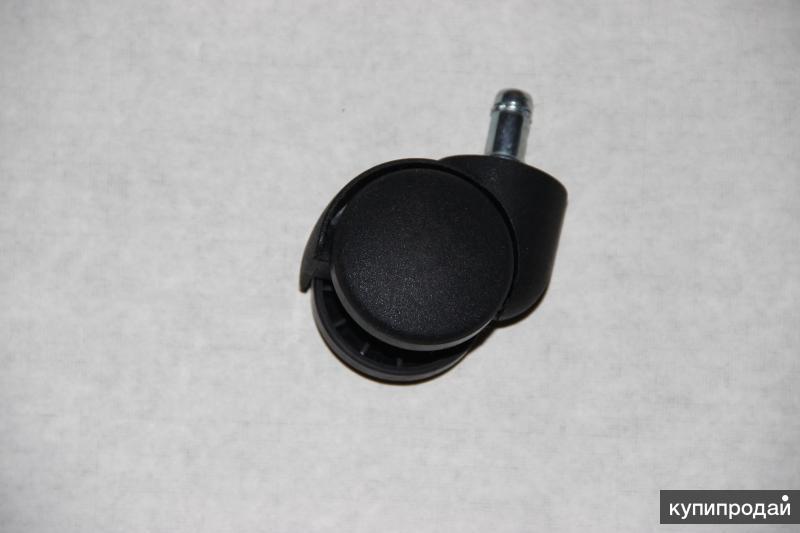 Ролик (колесо) для офисного кресла диаметр штока 11мм