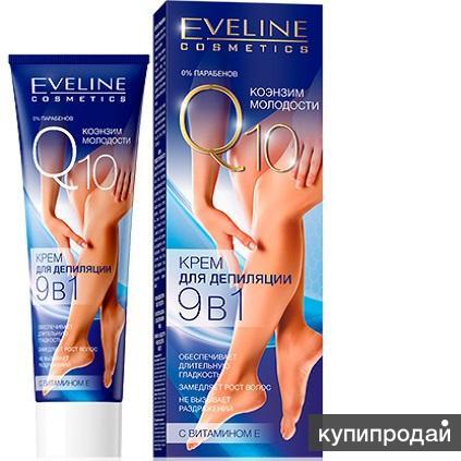 Крем для депиляции 9 в 1 Коэнзим Молодости Eveline Q10
