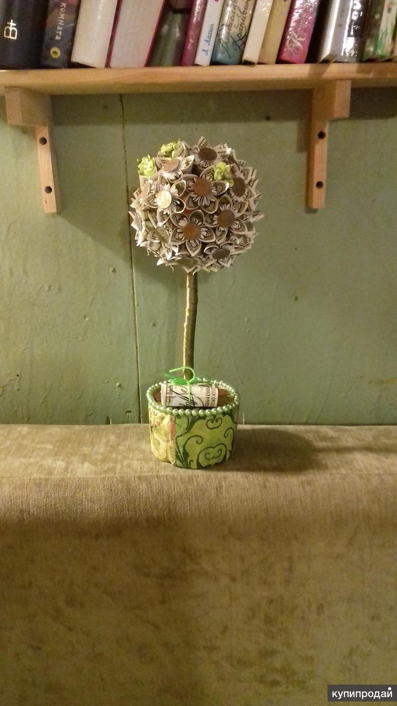 Как сделать денежное дерево фото на свадьбу