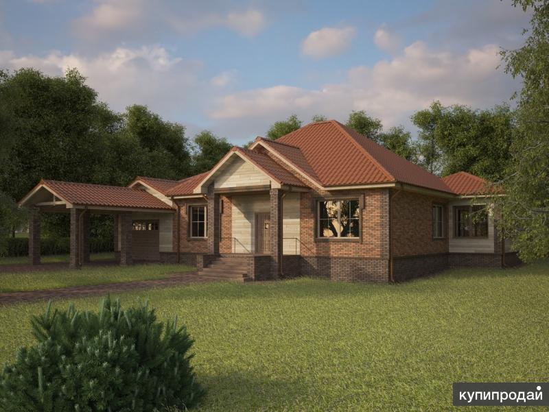 Проект RKS Home Style №12 общей площадью 193,2 кв. м (с крыльцом и террасой)