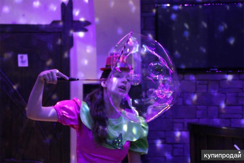 Шоу мыльных пузырей с подсветкой и дымом