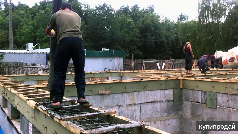 Заливка фундамента, монтаж блоков плит в Пензе, фундаменты Пенза