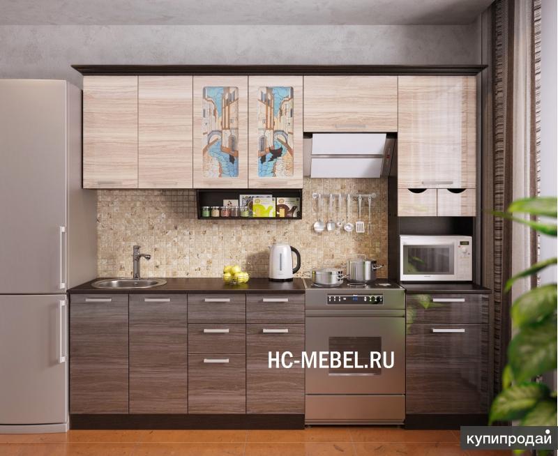 Кухня ВЕНЕЦИЯ-4, ширина 2,5м