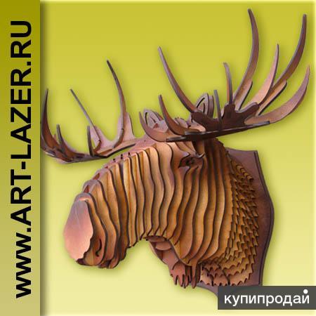 Голова оленя из фанеры 7