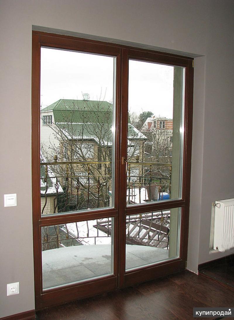 Установка деревянных дверей со стеклопакетом г. гатчина - ми.