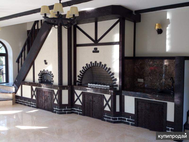 Отделка домов под ключ - деревянные конструкции, балки, столбы и др.